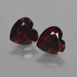 thumb image of 2ct Heart Facet Deep Red Pyrope Garnet (ID: 457155)