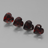 thumb image of 1ct Heart Facet Deep Red Pyrope Garnet (ID: 457182)