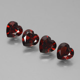 thumb image of 3.4ct Heart Facet Red Pyrope Garnet (ID: 457184)