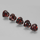 thumb image of 4.1ct Heart Facet Red Pyrope Garnet (ID: 457186)