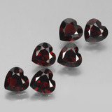 thumb image of 5.2ct Heart Facet Red Pyrope Garnet (ID: 457190)