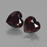 thumb image of 1.8ct Heart Facet Deep Red Pyrope Garnet (ID: 457220)