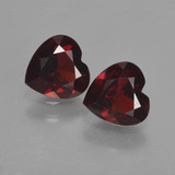 thumb image of 1.6ct Heart Facet Red Pyrope Garnet (ID: 457226)