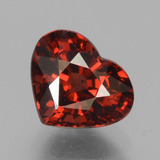 thumb image of 2ct Heart Facet Red Pyrope Garnet (ID: 457262)