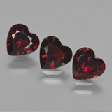 thumb image of 2.6ct Heart Facet Red Pyrope Garnet (ID: 457286)