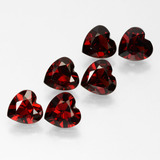 thumb image of 5ct Heart Facet Red Pyrope Garnet (ID: 457329)