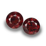 thumb image of 2.2ct Round Facet Red Pyrope Garnet (ID: 457444)