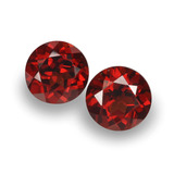 thumb image of 2.1ct Round Facet Red Pyrope Garnet (ID: 457450)