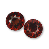 thumb image of 1ct Round Facet Red Pyrope Garnet (ID: 457583)