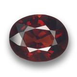 thumb image of 3ct Oval Facet Red Pyrope Garnet (ID: 461378)