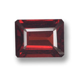 thumb image of 2.9ct Octagon Step Cut Red Pyrope Garnet (ID: 462122)