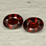 thumb image of 3.4ct Oval Facet Red Pyrope Garnet (ID: 466023)