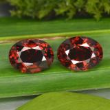 thumb image of 3.4ct Oval Facet Red Pyrope Garnet (ID: 466140)