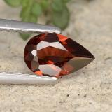 thumb image of 0.8ct Pear Facet Red Pyrope Garnet (ID: 487454)