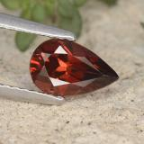 thumb image of 1ct Pear Facet Red Pyrope Garnet (ID: 487460)