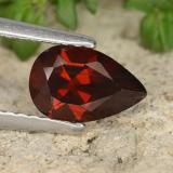 thumb image of 1.1ct Pear Facet Red Pyrope Garnet (ID: 487660)