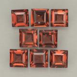 thumb image of 0.4ct Square Step-Cut Scarlet Red Pyrope Garnet (ID: 500207)