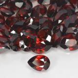 0.86 ct Corte en forma de pera Deep Blood Red Granate Piropo Gema 7.18 mm x 5.3 mm (Foto B)
