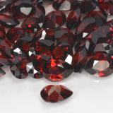 0.86 ct Corte en forma de pera Deep Blood Red Granate Piropo Gema 7.18 mm x 5.3 mm (Foto C)