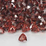 0.32 ct Facette trillion Scarlet Red Grenat Pyrope gemme 3.98 mm x 4 mm (Photo B)