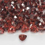 0.32 ct Facette trillion Scarlet Red Grenat Pyrope gemme 3.98 mm x 4 mm (Photo C)