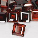 2.91 ct Square Step-Cut Merlot Red Pyrope Garnet Gem 8.09 mm x 8.1 mm (Photo B)