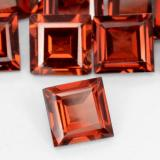 0.70 ct Square Facet Currant Red Pyrope Garnet Gem 5.00 mm x 5 mm (Photo B)