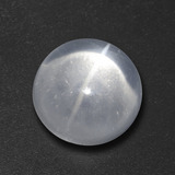 thumb image of 7.3ct Round Cabochon White Quartz Cat's Eye (ID: 459423)