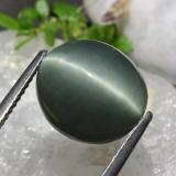8.17 ct Oval Cabochon Green Quartz Cat's Eye Gem 12.37 mm x 10.9 mm (Photo B)