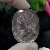 thumb image of 55.4ct Carved Cameo Colorless Quartz (ID: 240214)