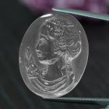 thumb image of 23.1ct Carved Cameo White Quartz (ID: 297133)