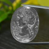thumb image of 24.3ct Carved Cameo White Quartz (ID: 297134)