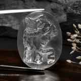 thumb image of 33ct Carved Cameo White Quartz (ID: 297137)