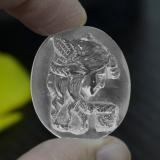 thumb image of 33.8ct Oval Carved Cameo White Quartz (ID: 297164)