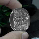 thumb image of 37.5ct Carved Cameo White Quartz (ID: 297169)