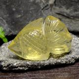 thumb image of 60.6ct Carved Fish Lemon Quartz (ID: 297246)