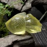 thumb image of 158.2ct Carved Fish Lemon Quartz (ID: 297250)