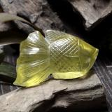 thumb image of 204.9ct Carved Fish Light Yellow Quartz (ID: 297251)