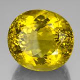 171.85 ct Oval Facet Lemon Quartz Gem 34.62 mm x 31.9 mm (Photo B)