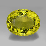 thumb image of 199.7ct Oval Portuguese-Cut Lemon Quartz (ID: 338602)