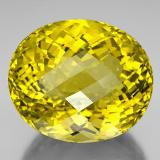 thumb image of 230.3ct Oval Checkerboard Lemon Quartz (ID: 338606)