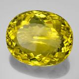 159.05 ct Oval Facet Lemon Quartz Gem 38.89 mm x 32 mm (Photo B)