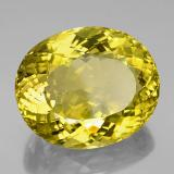152.35 ct Oval Portuguese-Cut Lemon Quartz Gem 38.02 mm x 31.5 mm (Photo B)