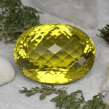 thumb image of 212.9ct Oval Checkerboard Lemon Quartz (ID: 339145)