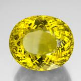 152.10 ct Oval Portuguese-Cut Lemon Quartz Gem 35.73 mm x 30.2 mm (Photo B)