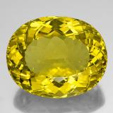 thumb image of 146.4ct Oval facettiert Bumblebee Yellow Quarz (ID: 341782)