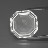 thumb image of 10.5ct Asscher Cut Clear White Quartz (ID: 394840)