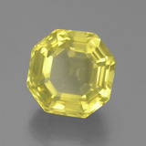 17.33 ct Asscher Cut Lemon Quartz Gem 15.26 mm x 15.2 mm (Photo B)