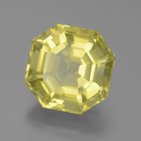 16.31 ct Asscher Cut Lemon Quartz Gem 15.85 mm x 15.8 mm (Photo B)