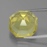 16.31 ct Asscher Cut Lemon Quartz Gem 15.85 mm x 15.8 mm (Photo C)